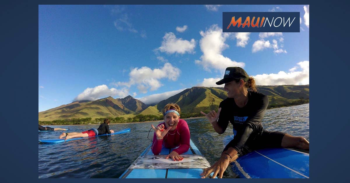 Hawaiian Paddle Sports on Maui Offers 100 Free Surf Lessons to Hawai'i Residents