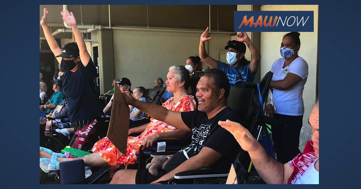 Parade at Hale Makua Wailuku Reconnects Families After Nearly Three Months