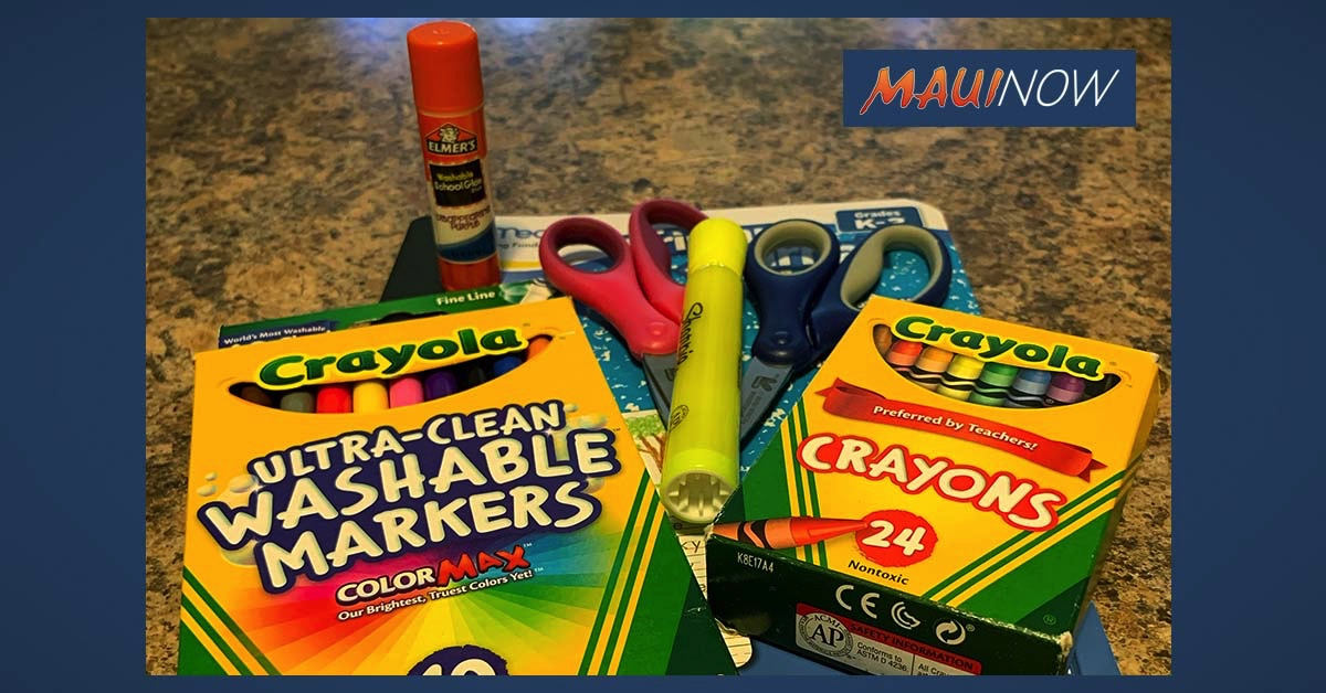School Supplies Drive for Maui Kids in Need, June 22-July 17