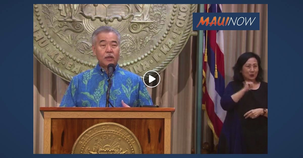 Governor Announces Multi-Layered Approach to Travel in Hawai'i
