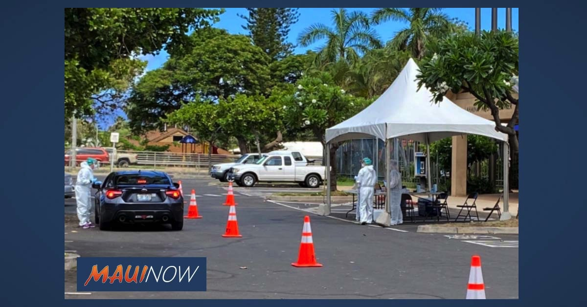 Drive-Through COVID-19 Testing on Friday, July 31, at Lahaina Aquatic Center