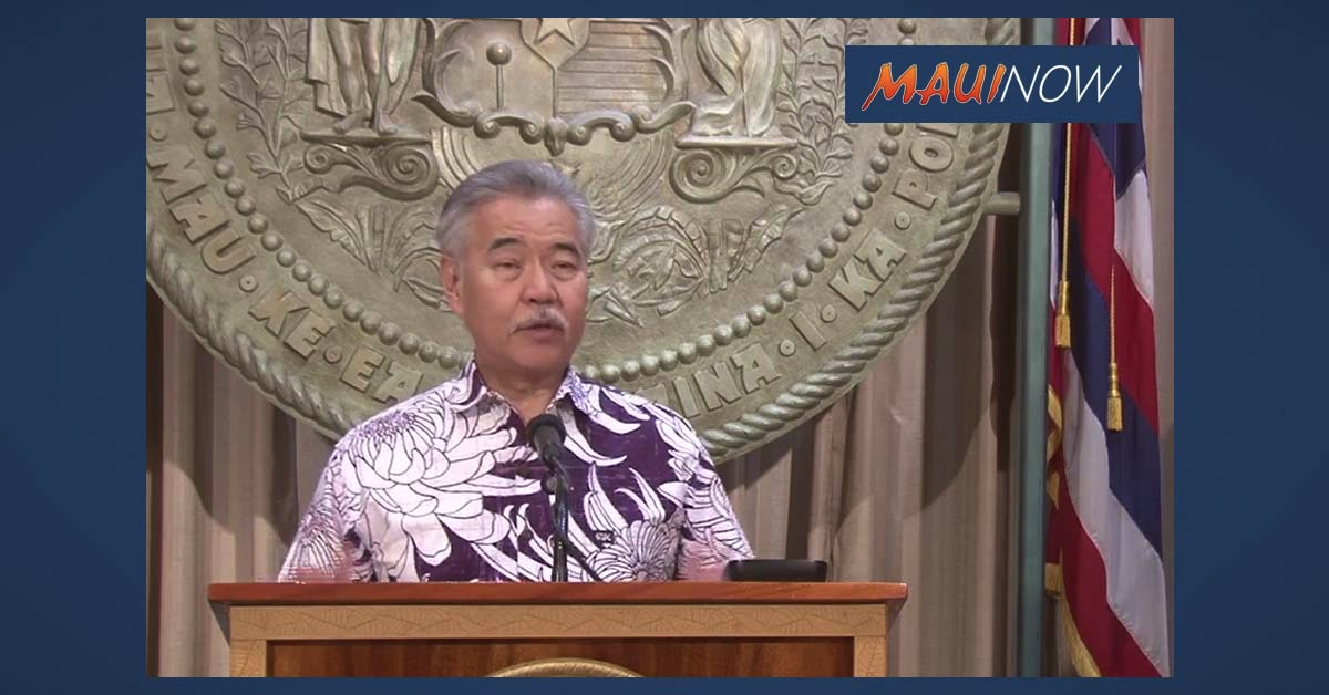 LIVE STREAM: Governor David Ige's Update on Travel Requirements for Air Transportation