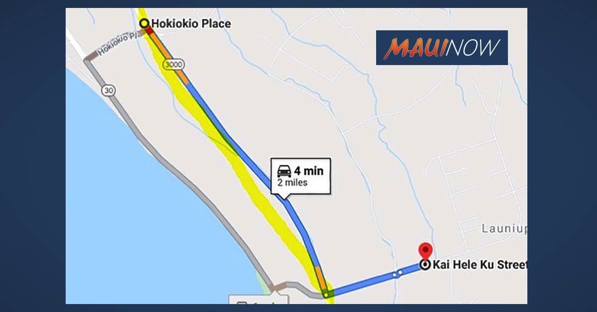 Road Now Open Following Traffic Investigation on Lahaina Bypass