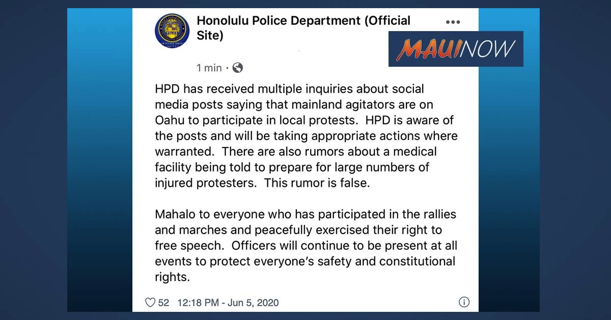 Honolulu Police Respond to Rumors, Ensure Appropriate Action Where Warranted