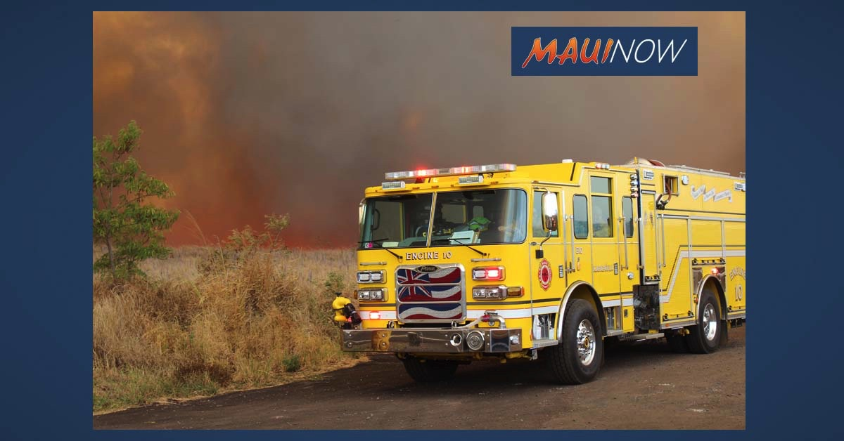 Maui Wildland Fire Training June 8-19 South of Haleakalā Highway