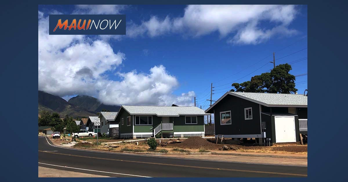 Habitat for Humanity Maui Closes on Two More Homes in Lahaina