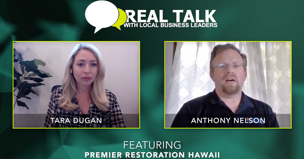 VIDEO: Real Talk with Premier Restoration Hawaii's Chief Commercial Officer, Anthony Nelson