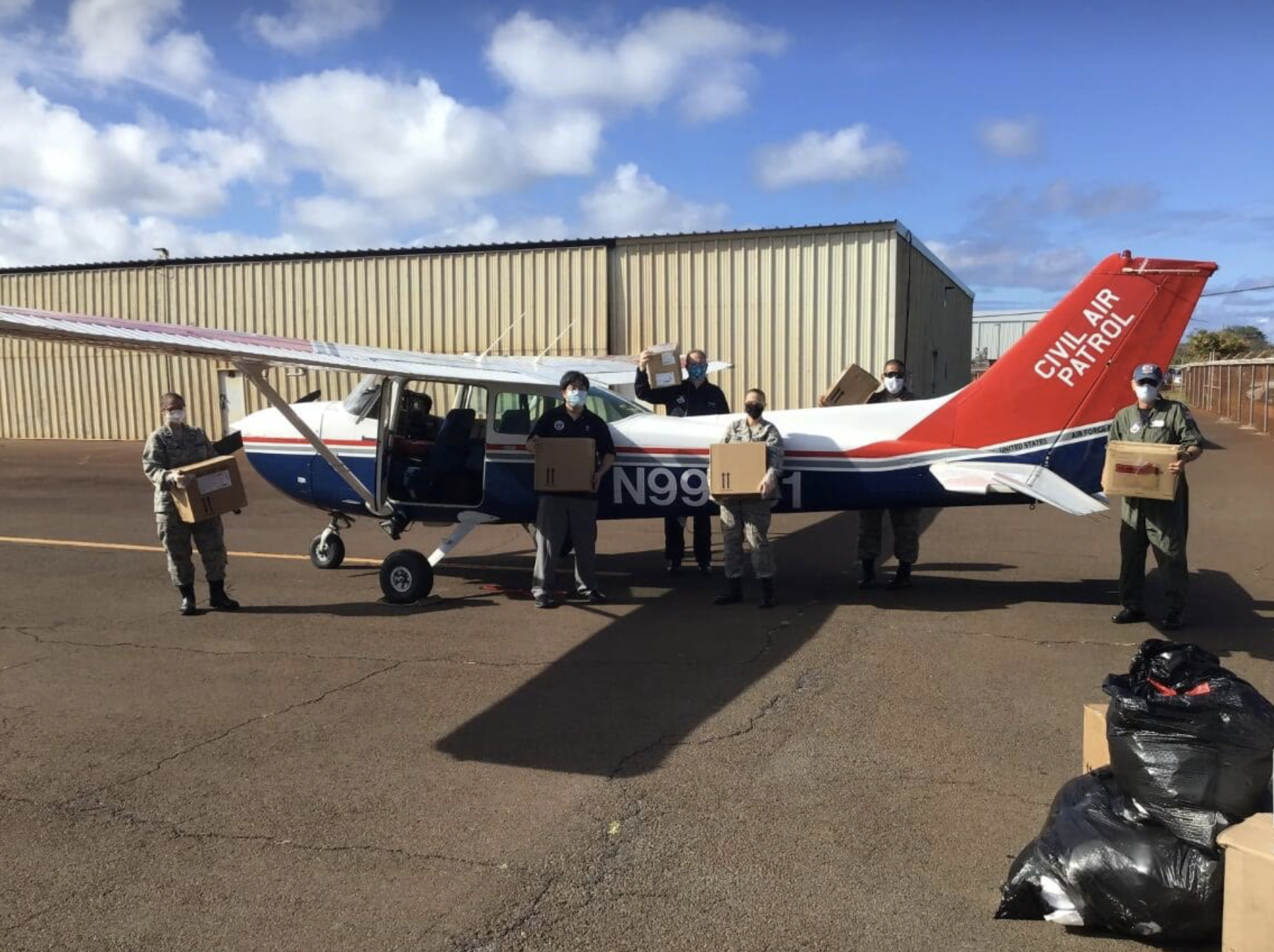 CIvil Air Patrol Assists In Delivery of PPE and Medical Supplies to Maui