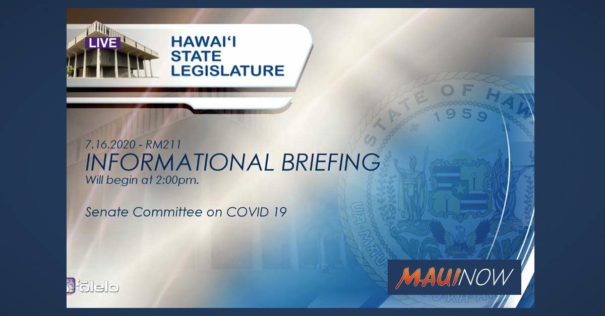 Senate Special Committee on COVID-19 Meeting on School Re-Openings