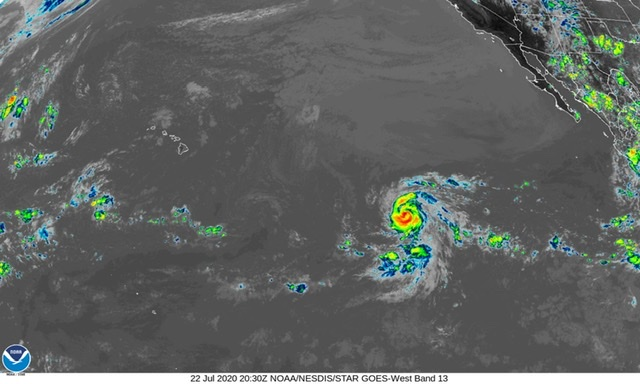 Douglas Becomes First Hurricane of 2020 Eastern Pacific Season, Could Become Major Hurricane on Thursday