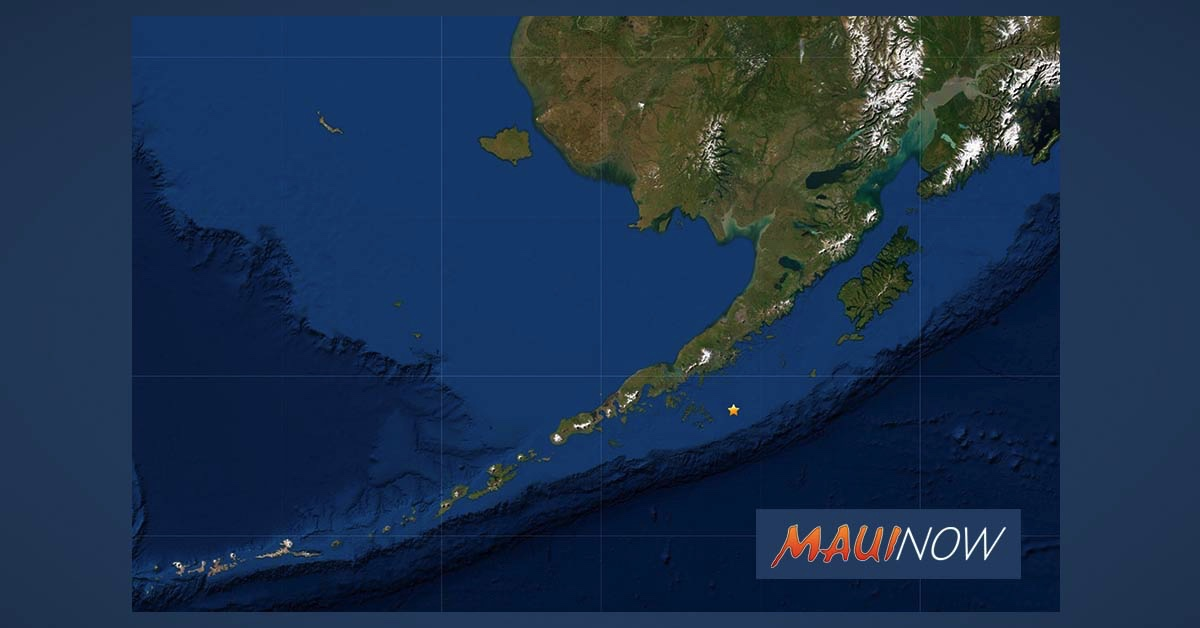 UPDATE:  No Tsunami Threat to Hawaii After Large 7+ Alaska Quake