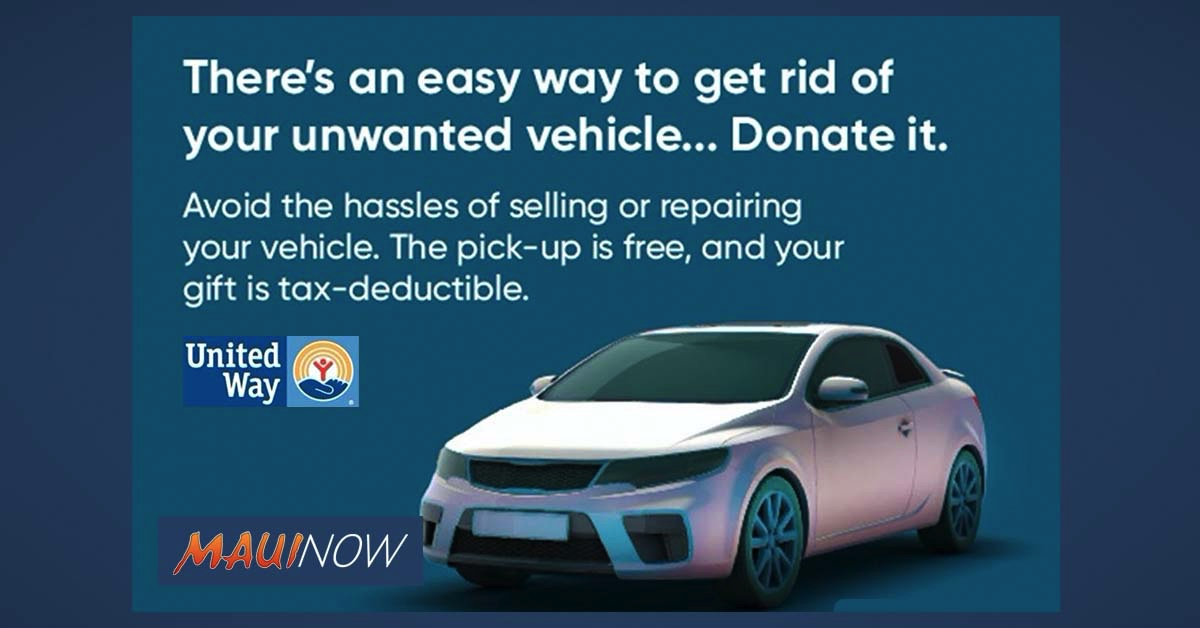 Maui United Way Now Accepts Vehicle Donations