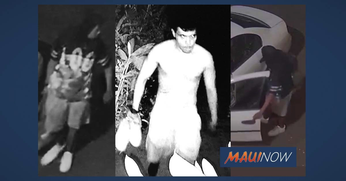 Maui Police Release Surveillance in Mā'alaea Attempted Vehicle Theft