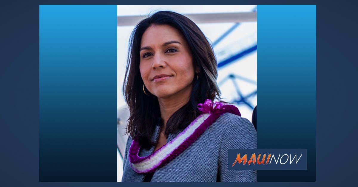 Rep. Tulsi Gabbard Telephone Town Hall Discusses Shake Up at DOH