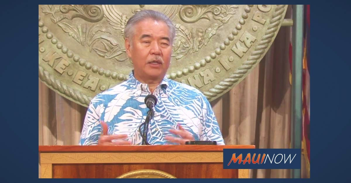 Live Stream: Gov. Ige Outlines How COVID-19 Has Impacted the State's Finances