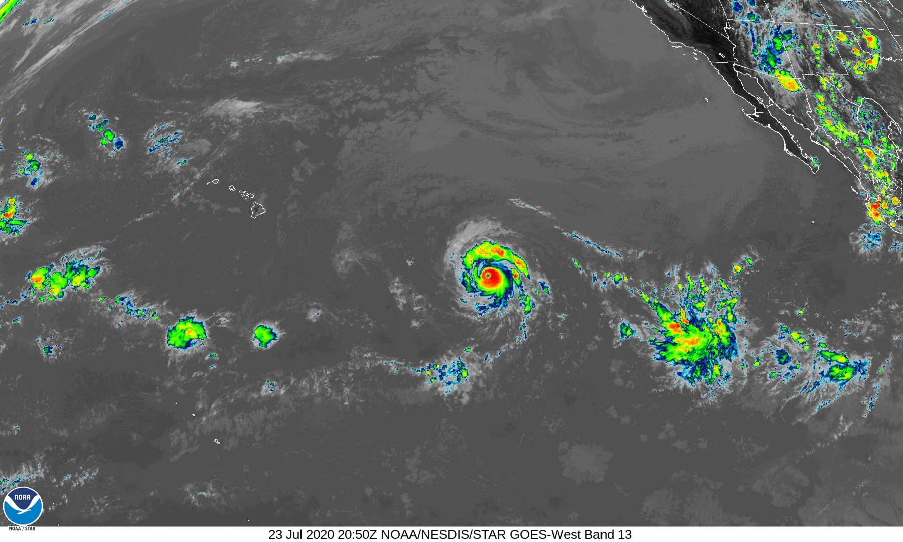 Category 3 Douglas Strengthening on Approach to Central Pacific (11 a.m. Update)