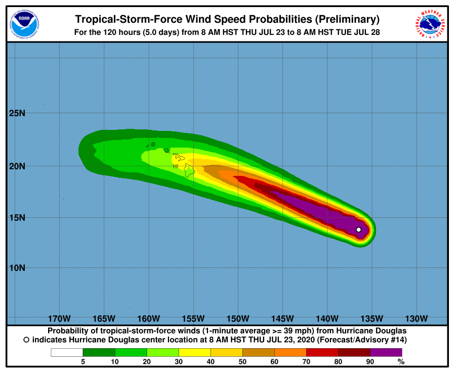 Rare Hawaiian hurricane, packing strong winds and rains, approaches islands