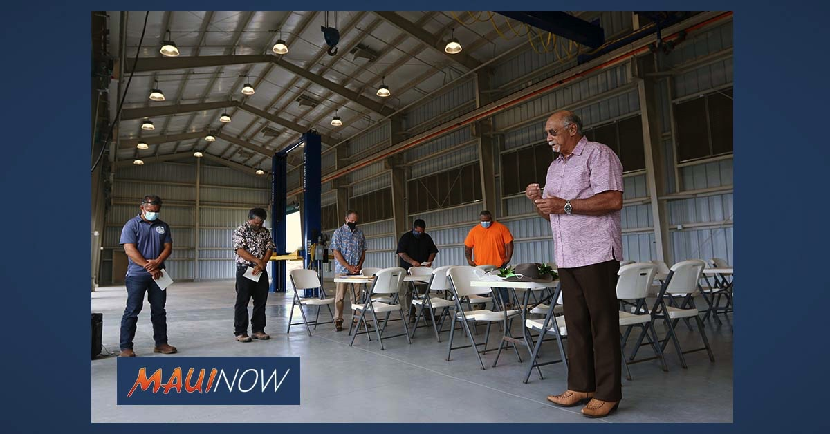 Mayor Victorino Celebrates Blessing of New $7.7 Million Moloka'i Baseyard