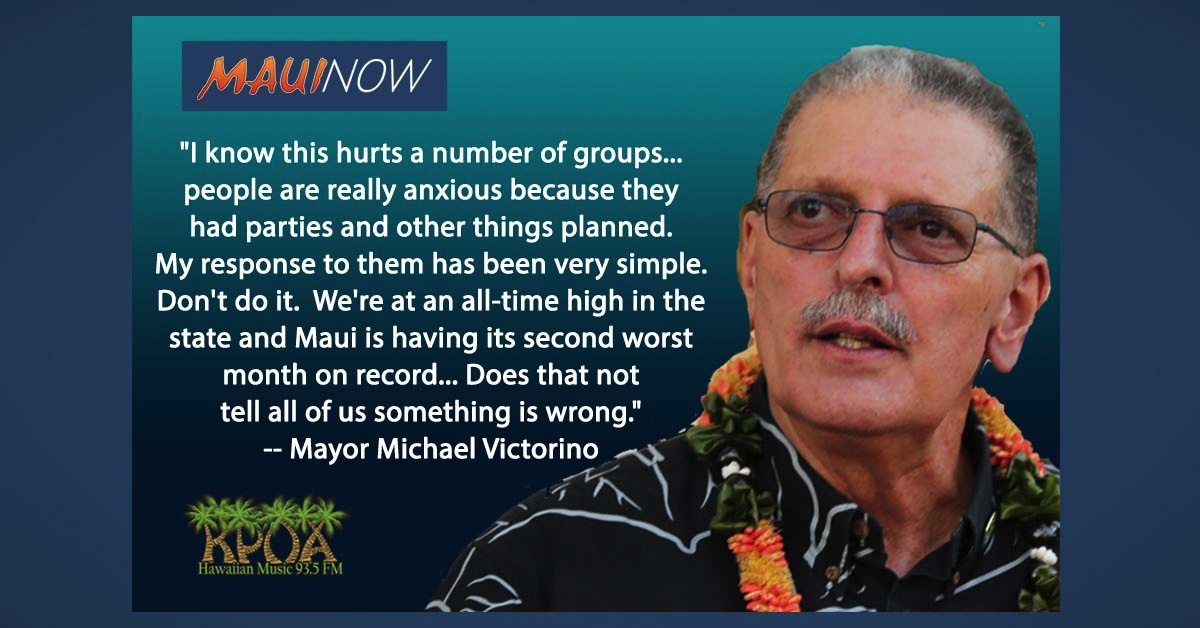 "Mayor Interview: What to do About ""Knuckleheads"", New Rules on Maui Take Effect Today"