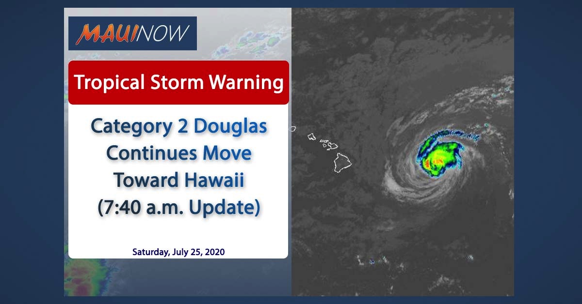 Category 2 Douglas Continues Move Toward Hawaii (7:40 a.m. Update)