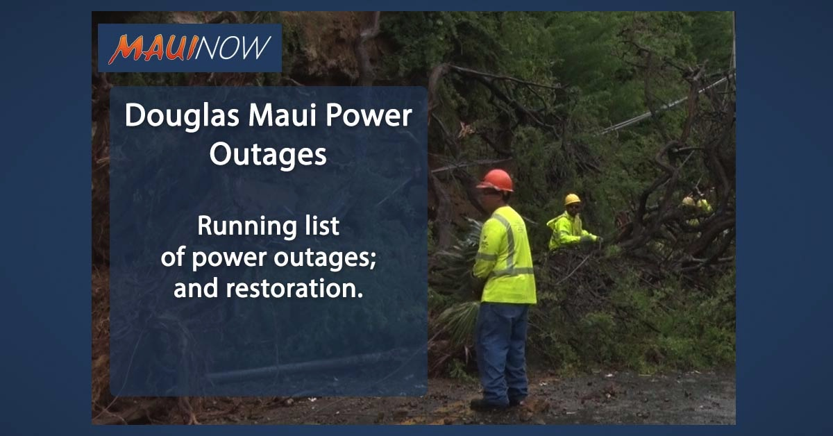 Douglas Maui Power Outages