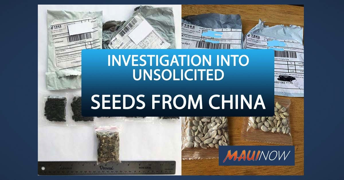 Unsolicited Seeds from China Prompts Alert, Investigation
