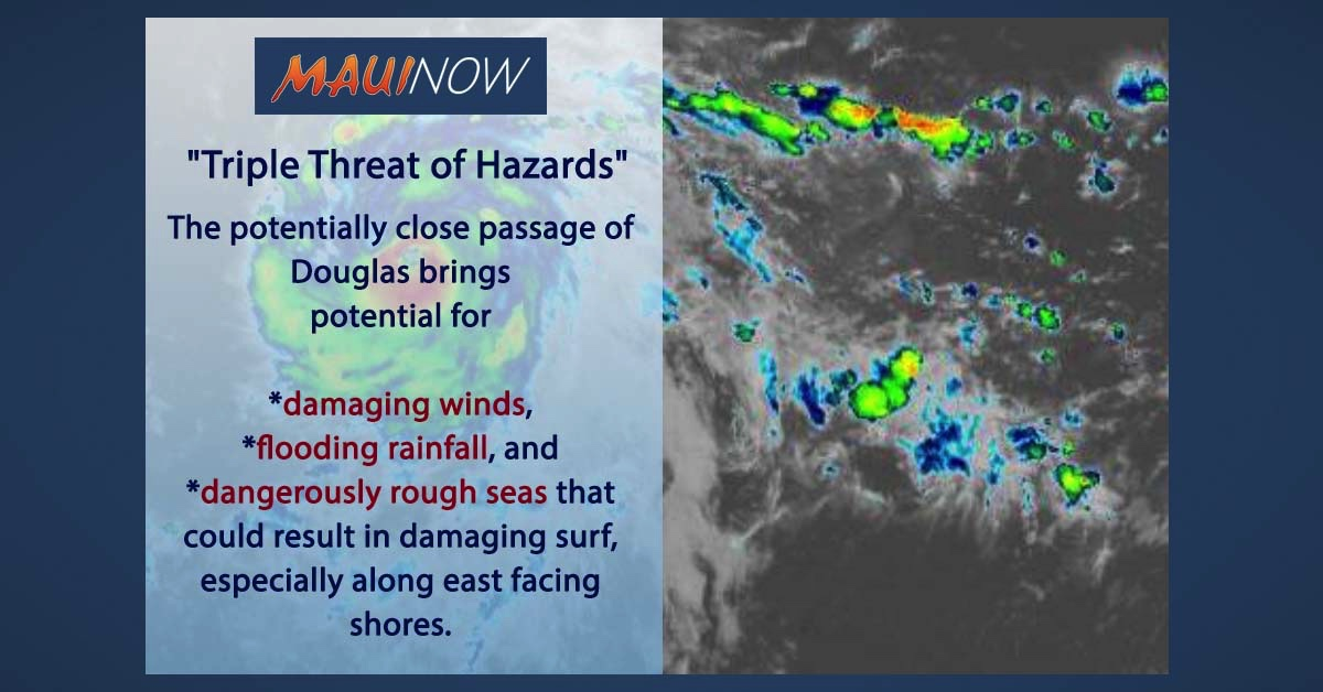 "Maui Emergency Officials Call Potential Impacts of Douglas a ""Triple Threat of Hazards"""