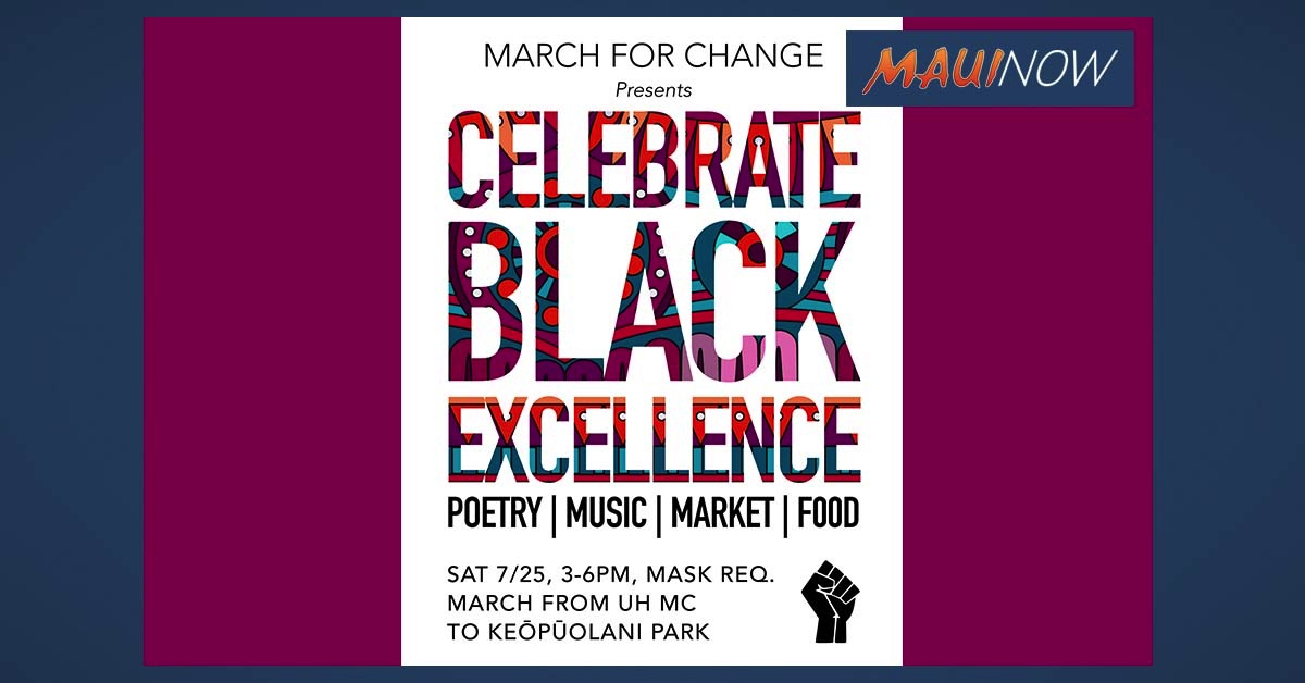 UPDATE: Celebrate Black Excellence Event on Maui, July 25 is CANCELED