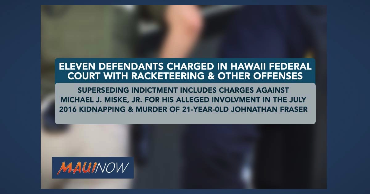 FBI Investigation Leads to Indictment of Eleven in Hawai'i for Racketeering, Other Offenses
