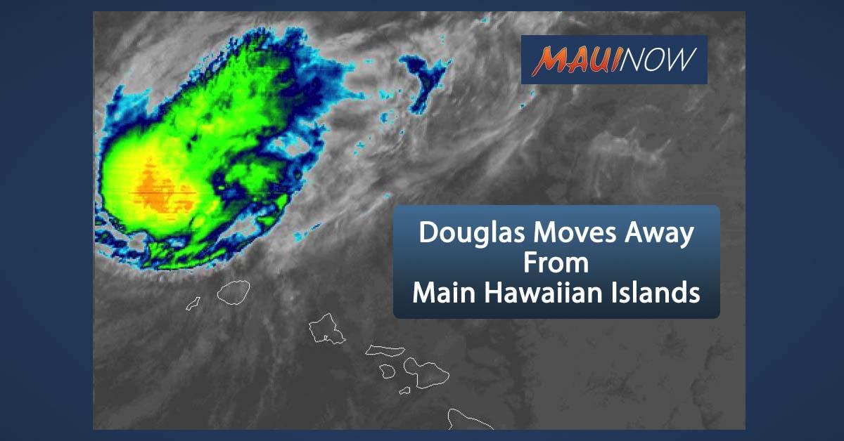 Hurricane Warning Lifted for Kauai, Douglas Moves Rapidly Away