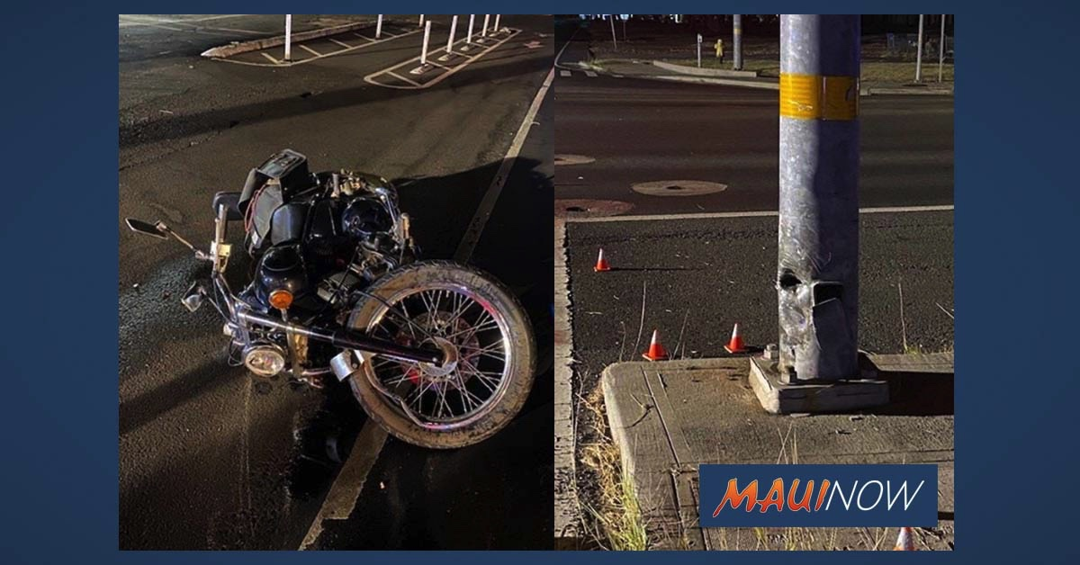 Motorcyclist Suffers Critical Life-Threatening Injuries in Kahului Crash Overnight