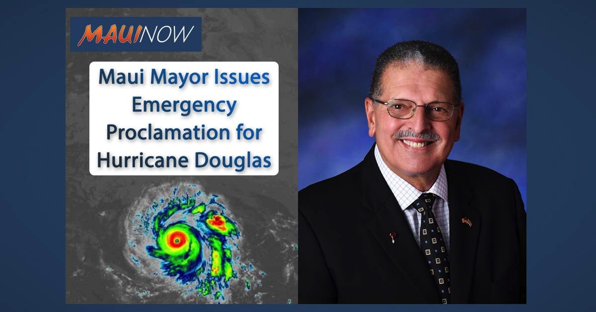 Maui Mayor Issues Emergency Proclamation for Hurricane Douglas