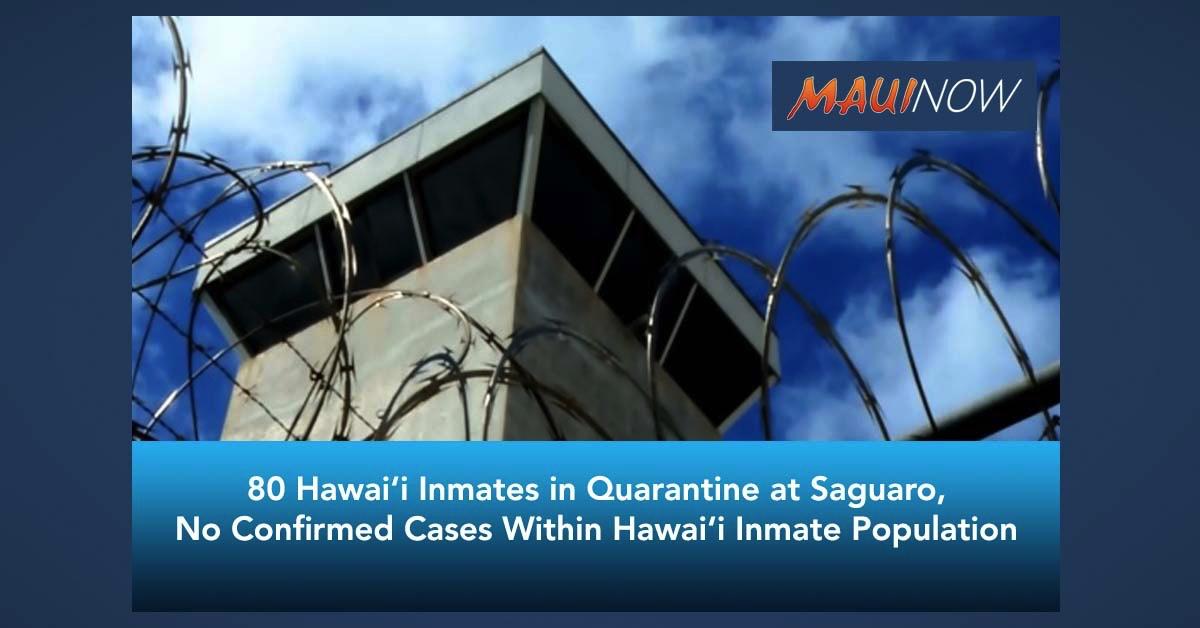 80 Hawaiʻi Inmates in Quarantine at Saguaro As Precautionary Measure