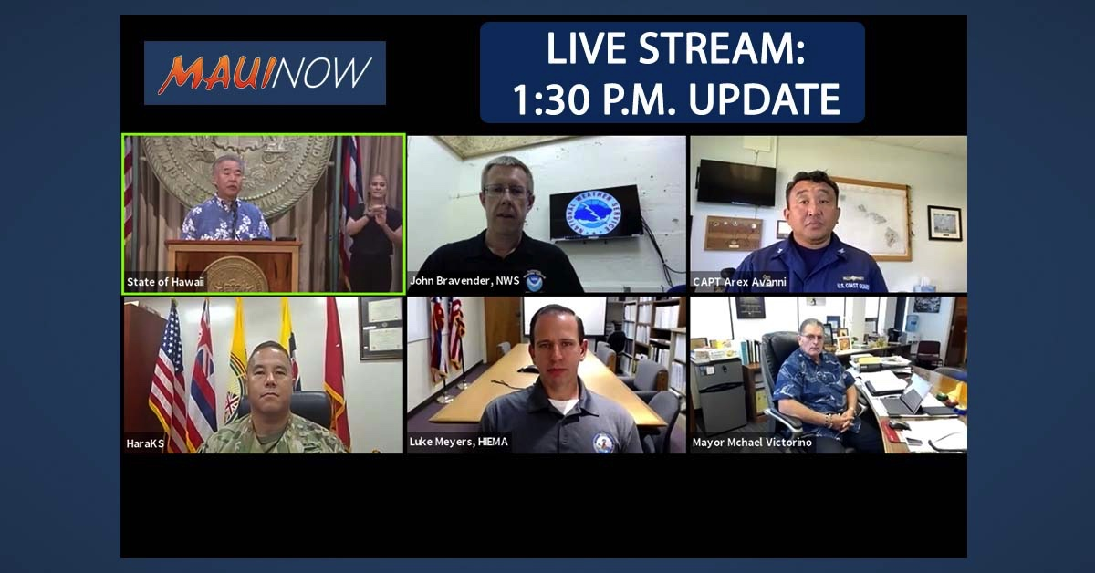 LIVE STREAM: Governor's Briefing on Hurricane Douglas (1:30 p.m. Update)