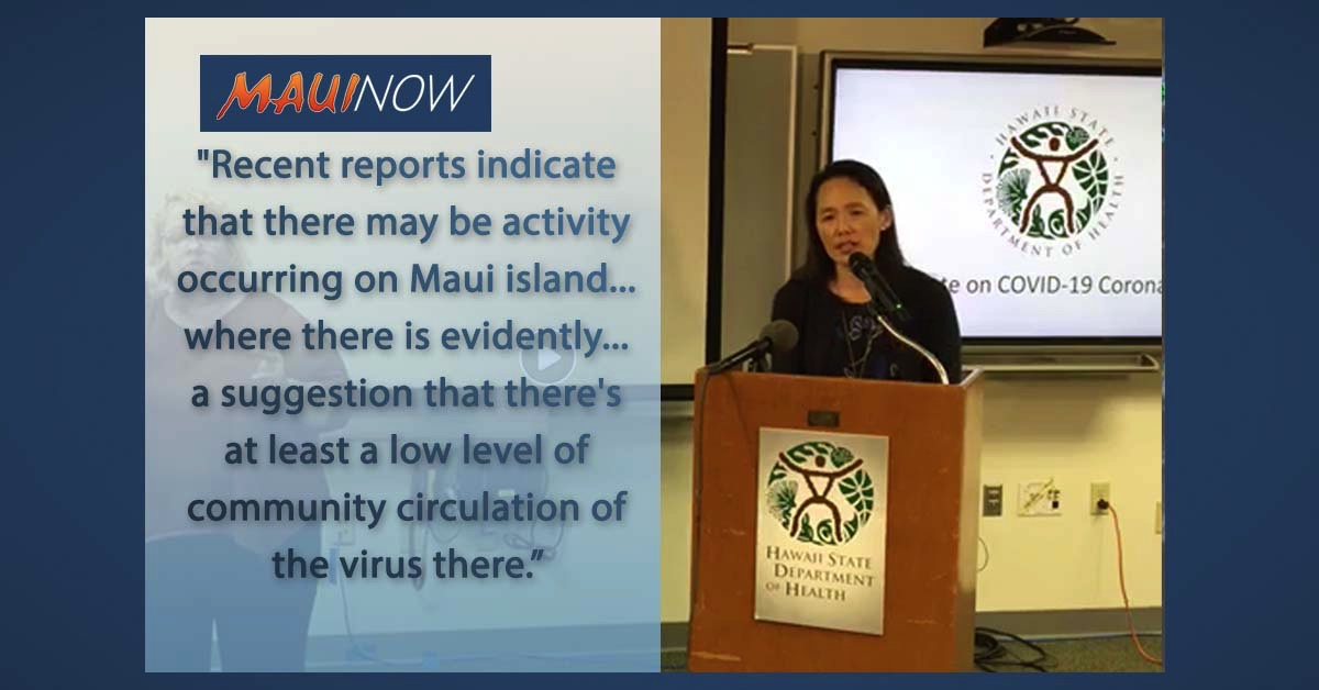 COVID-19 Update: Low Level of Community Spread on Maui, School Assessment
