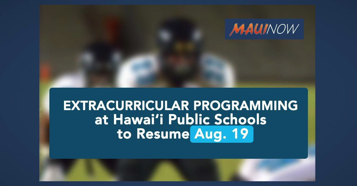 Extracurricular Programming to Resume Aug. 19 at Hawai'i Public Schools