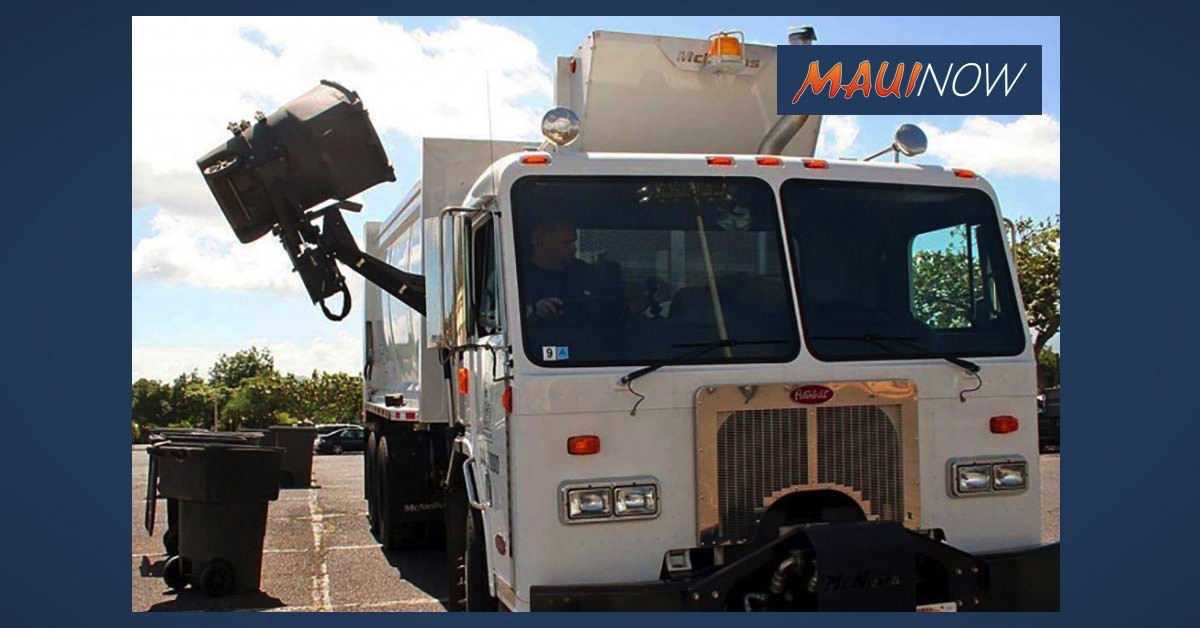Maui Solid Waste Schedule for Thanksgiving Holiday