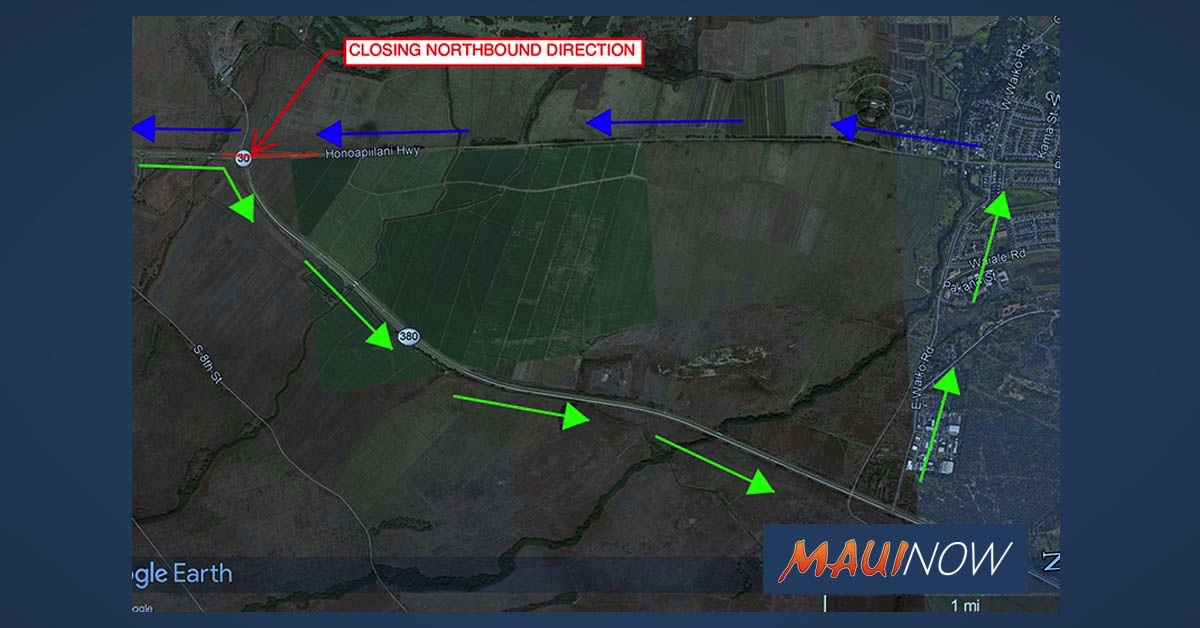 Honoapi'ilani Highway Roadwork in Mā'alaea to Begin July 15