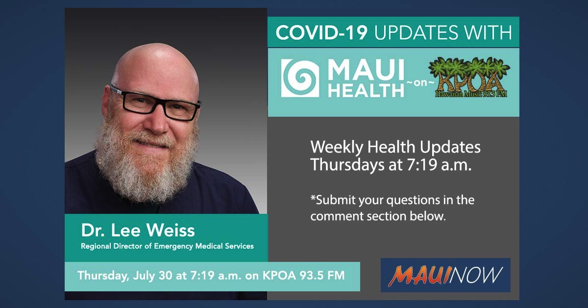 """Maui Health Interview: """"Masking is our Social Conscience"""""""