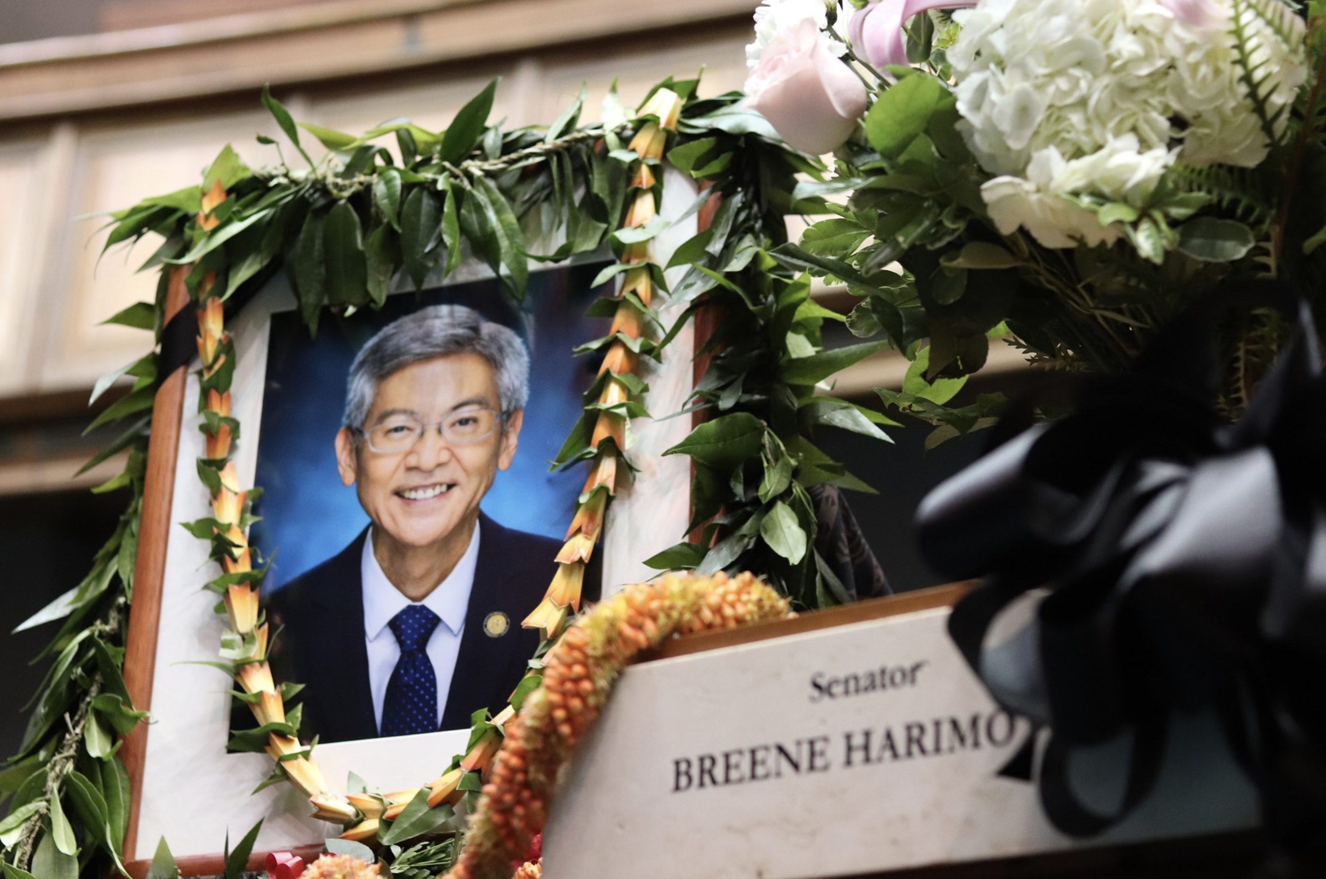 Colleagues Honors Late Sen. Breene Harimoto Today with Memorial in Senate Chamber