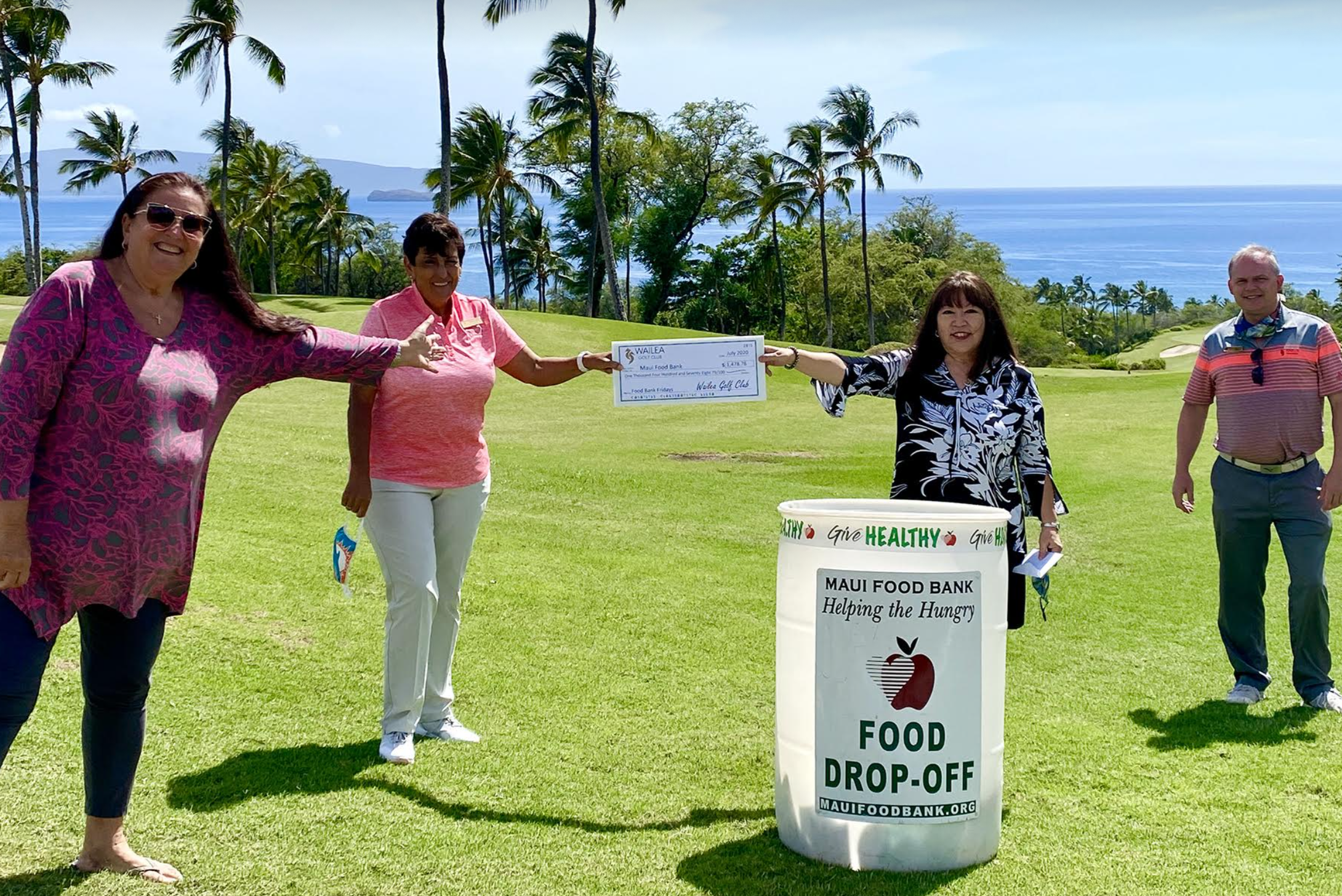 Maui Food Bank Receives Additional Donation from Wailea Golf Club
