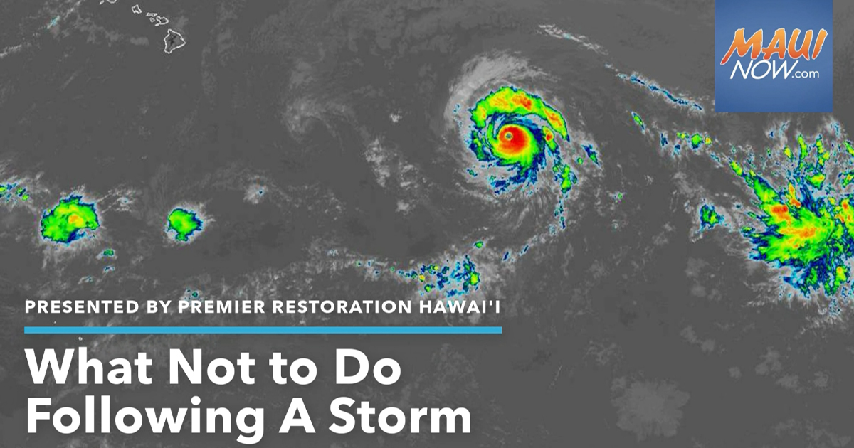 Five Things Not To Do Following a Storm