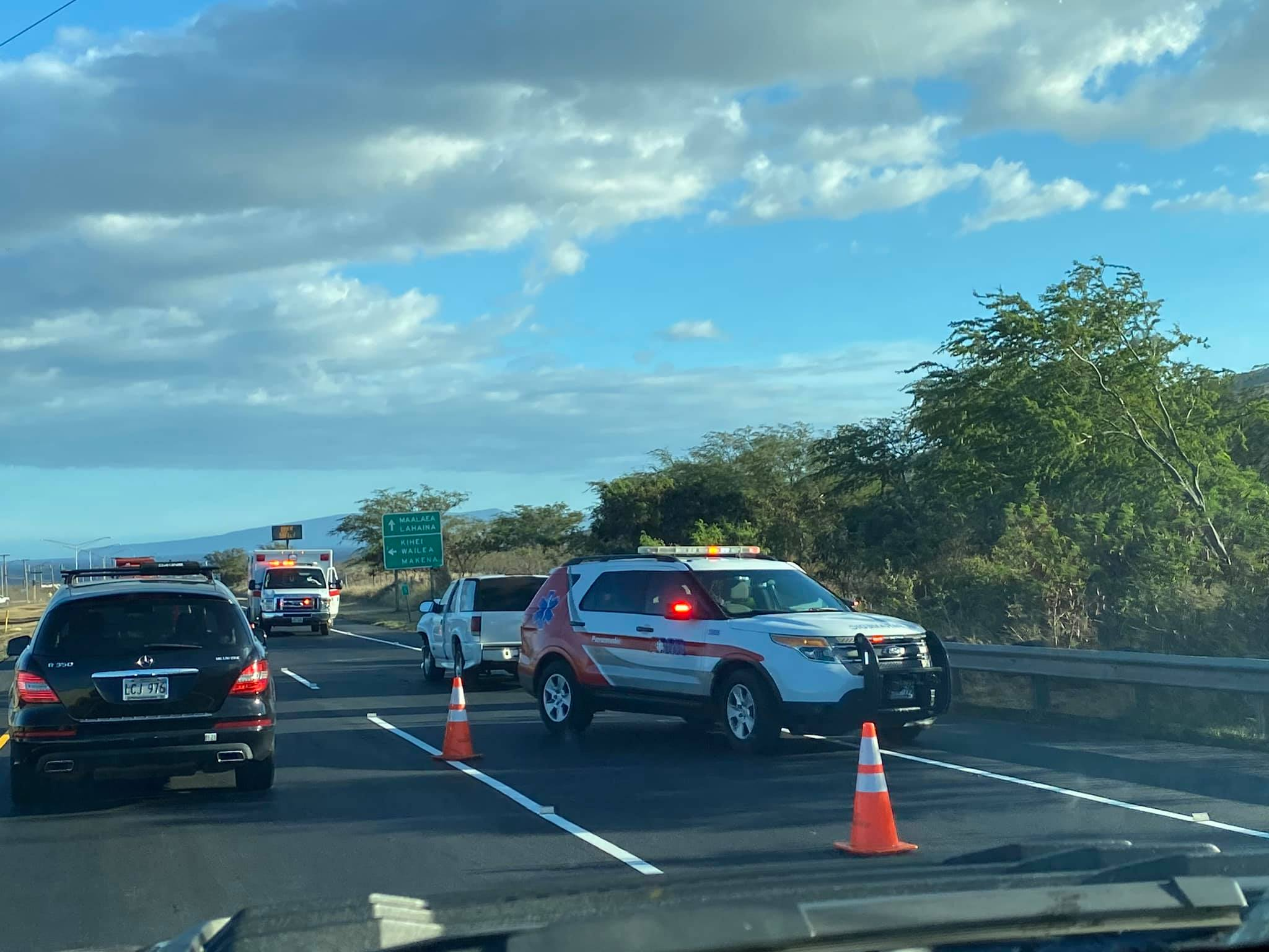 Traffic Advisory: Honoapi'ilani Highway in Mā'alaea (5:46 p.m.)