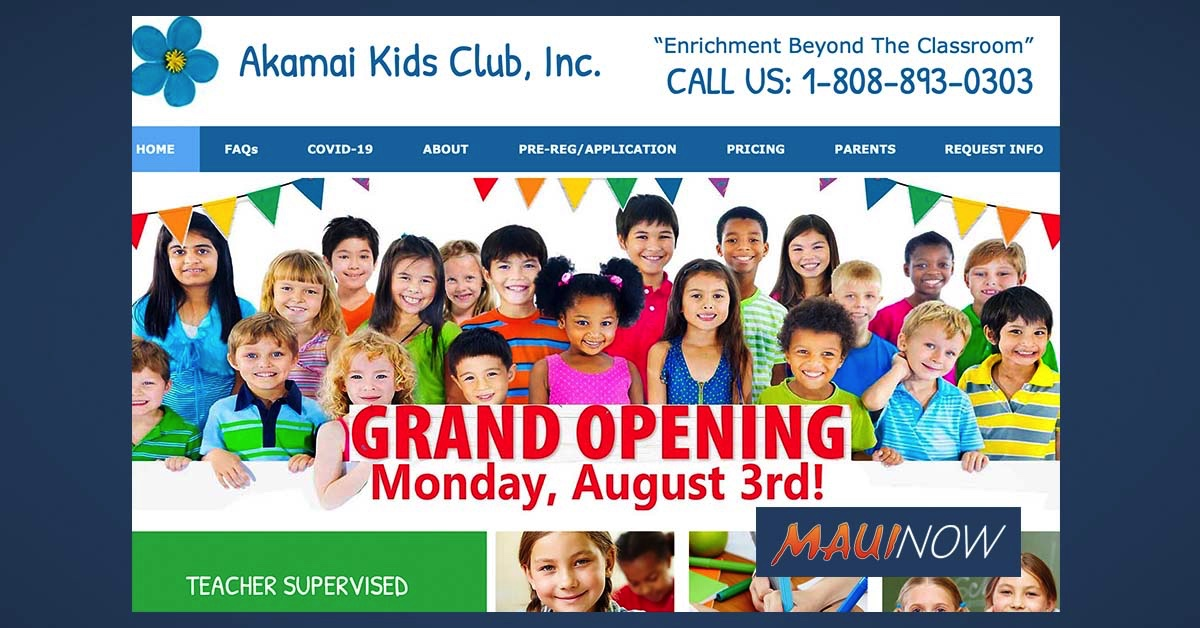 Akamai Kids Club, Inc Announces Childcare/Education Center Opening