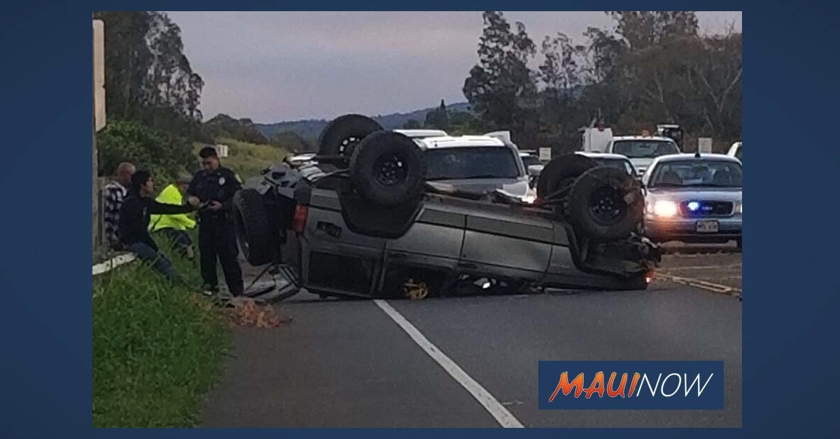 Traffic Advisory: Overturned Vehicle on Haleakalā Road