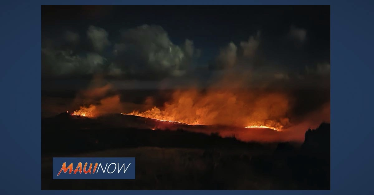 Investigation into Nine Separate Fires in Kahikinui