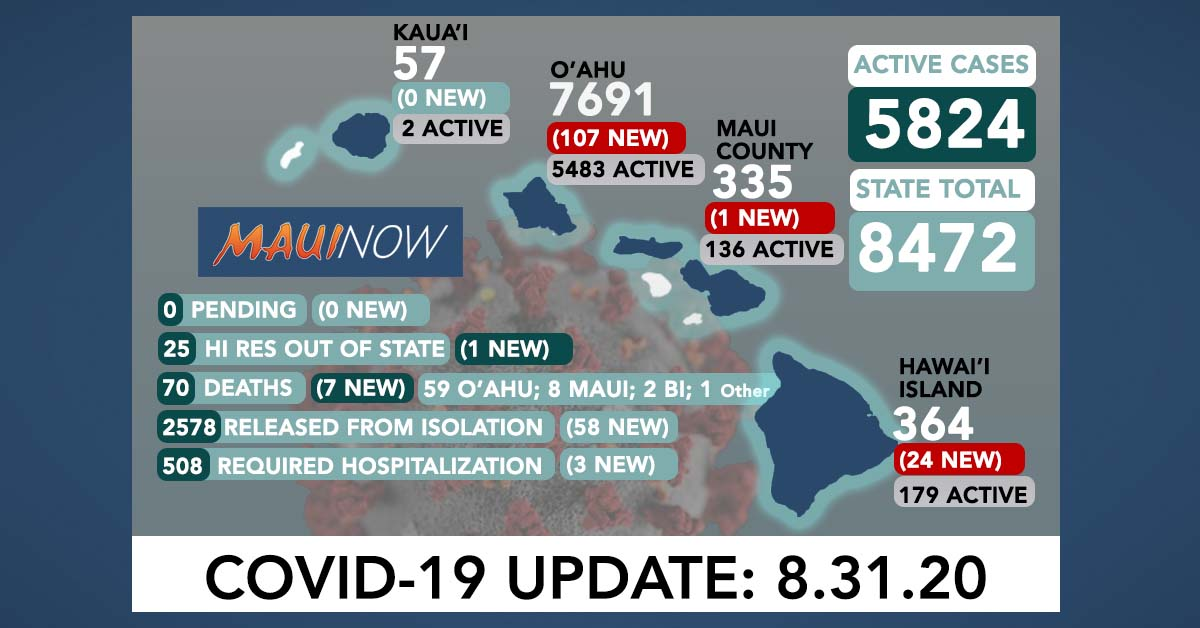 7 COVID-19 Deaths Today Marking Deadliest Day for Hawai'i Since Pandemic Began