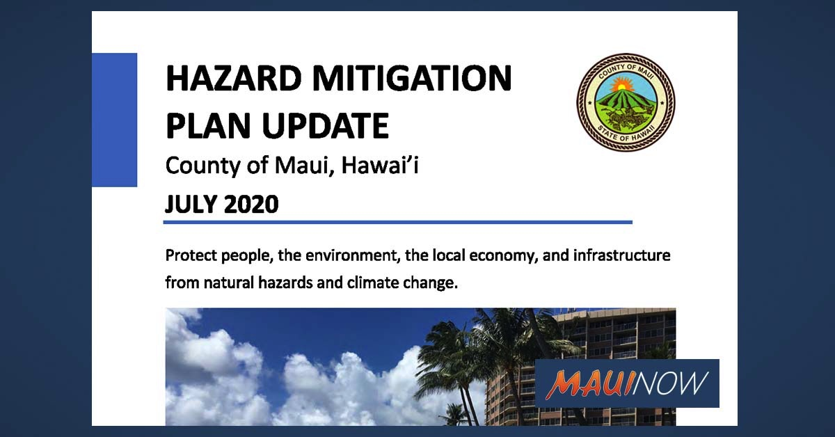 Public Invited to Review Maui Hazard Mitigation Plan Update