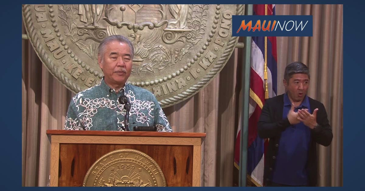 Live Stream: Governor David Ige Hosts Media Briefing on COVID-19