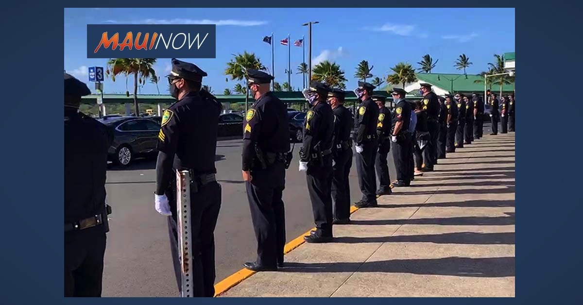 Federal Agent Honored During Final Sendoff at Kahului Airport